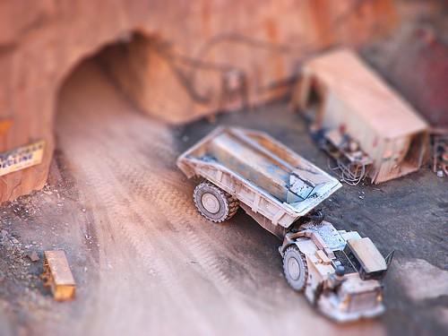 dump truck in quarry