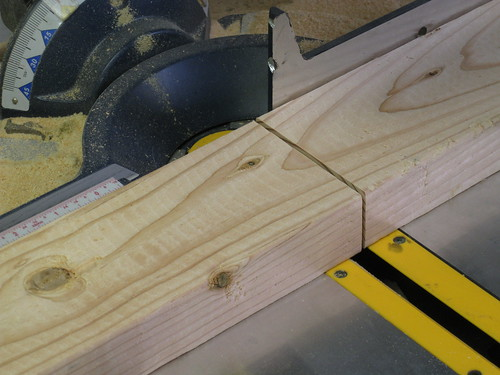 2x4 cut on miter saw