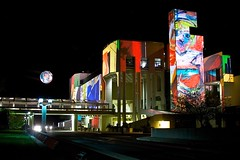 National Art Gallery's 25th Birthday (Cutflat) Tags: night artwork australia projection canberra act nationalartgallery