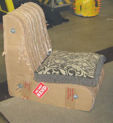 corrugated chair