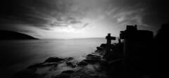 when time happens: the old pier (thescatteredimage) Tags: ocean sea sunrise dawn holga fuji australia victoria pinhole greatoceanroad rodinal 2009 acros100 oldpier wyeriver holga120wpc 120wpc wideanglepinholecamera