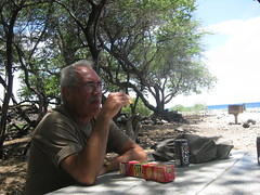 Lunch stop at beach near Mauna Lani