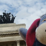 Eeyore visits the Wellington Arch, Hyde Park Corner, London thumbnail