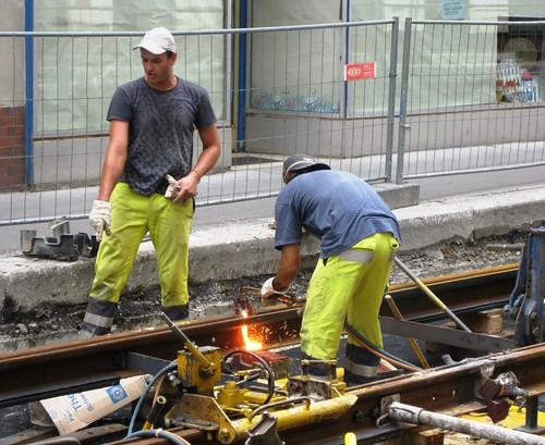Vienna Tram 49 Rehabilitation 2009 – Track Welding