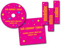madeline's bikini bash - cd labels, jewel inserts & bookmarks
