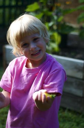 loves to garden just like mom