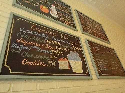 pastry shop chalkboard