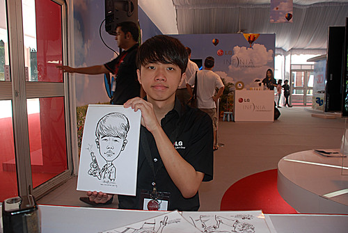 caricature live sketching for LG Infinia Roadshow - day 1 - 7