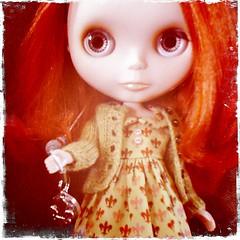 Simone wearing her new HOP dress