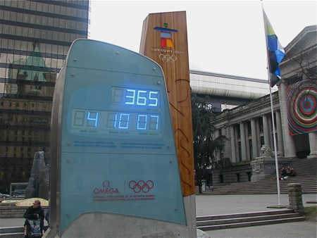Omega Countdown Clock, Vancouver: One year to go!