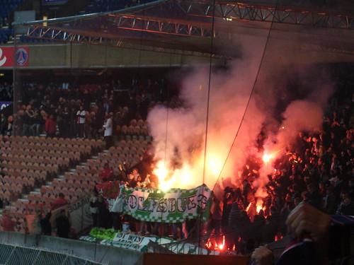 Supporters de Wolfsburg lors de PSG 2-0 Wolfsburg
