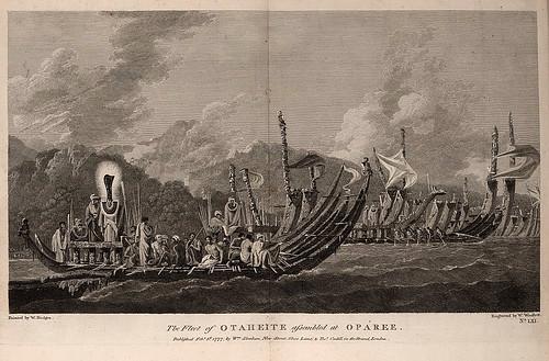 013-La flota de Otaheite reunida en Oparee