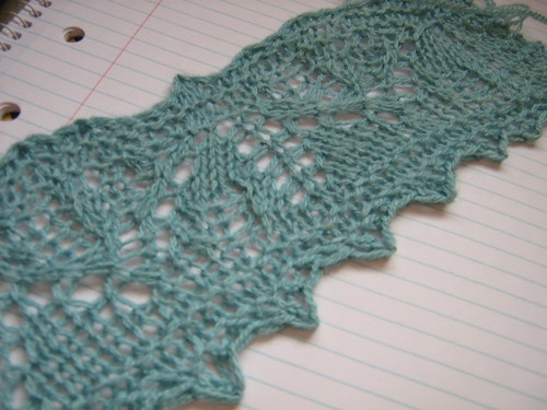wedding shawl swatch