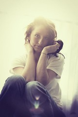 (Reagan Powell) Tags: light window jessie canon vintage friend natural 5d naturalbeauty sunflare 50mm18