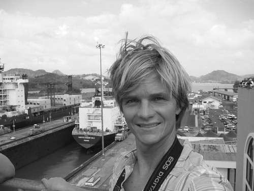 Nicolai at the Panama Canal...