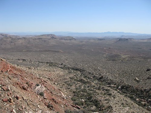 The view from up high on Arrow's point, Black Velvet Canyon, Red Rock, NV.