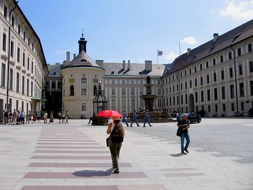 Red Umbrella in Prague