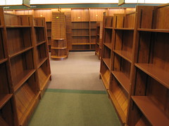 Empty shelves at Stacey's