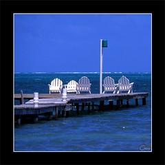 Isla bonita (cisco image ) Tags: sea chair blu belize cisco photographia islabonita photographia