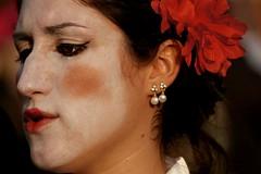 The mask (HAMED MASOUMI) Tags: venice red italy white flower girl face canon persian mask edited earring iranian hamed 30d   70200mmlf4 venicecarnival masoumi hamedmasoumi
