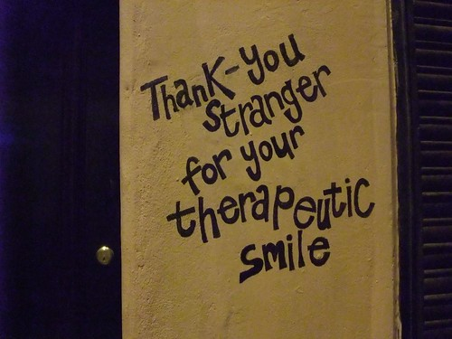 Thank you stranger for your therapeutic smile