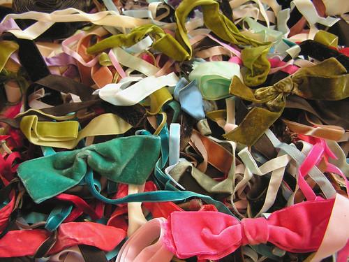 velvet ribbon pile