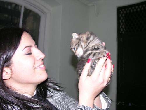 Seda (Sema nővére) és a macsek - az első találkozás