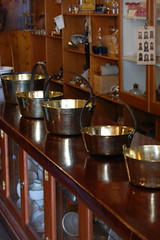 Pots n pans in recreated Victorian ironmongers store
