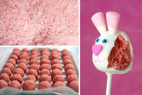 Strawberry Bunny Cake Pops