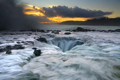 Maelstrom #3 -Kauai, Hawaii (PatrickSmithPhotography) Tags: ocean travel wallpaper vacation sky usa cloud seascape rock danger sunrise canon landscape death hawaii lava s