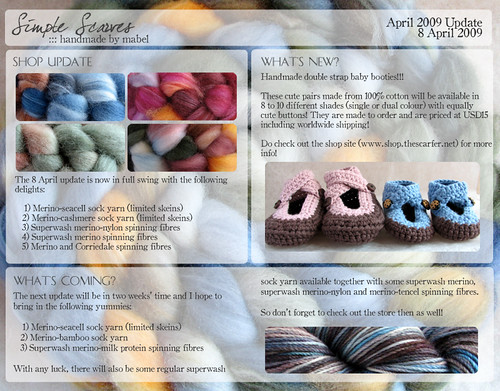 Simple Scarves 8 April 2009 Newsletter