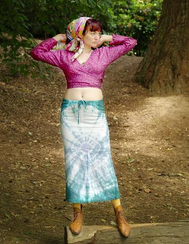 SALE Lavender Orb tie-dye skirt SALE