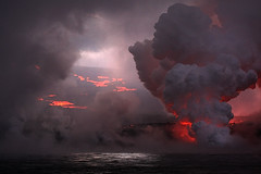 Earth, Fire and Water (strange_wax) Tags: cloud volcano lava 100v10f galapagos ashes eruption naturesfinest interestingness52 i500 ef100400l islafernandina strangewax paulomartel