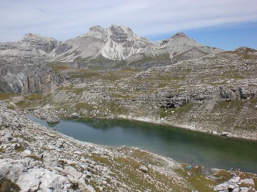 See in der Nähe der Puez-Hütte
