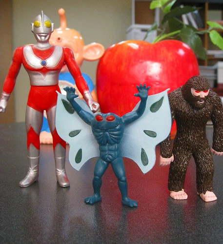 Mothman, Bigfoot, Ultraman and an Apple,