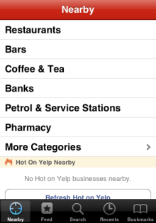 Yelp nearby businesses
