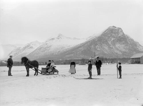 Winter activities, ca. 1890-1910.