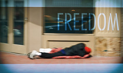 Freedom (MissMae) Tags: street morning man photography freedom downtown sandiego gaslamp indigent savagephotography