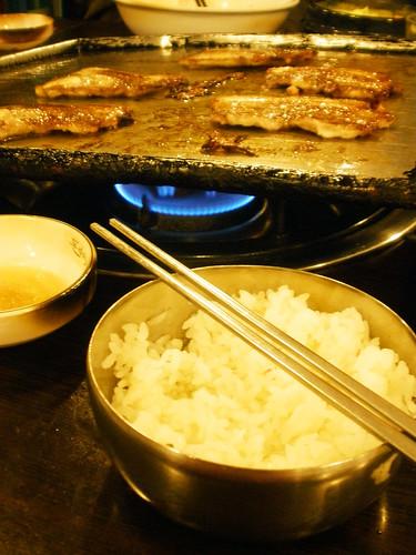 Samgyeopsal & Rice