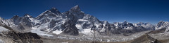 Panorama of Everest, Nuptse, Lhotse, etc (Joel_Richards) Tags: nepal south himalaya everest col himalayas lhotse nuptse changtse