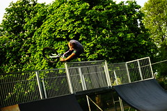 Newport and Cowes Park (ChrisWoodPhotography) Tags: bmx skatepark dmr moutainbike