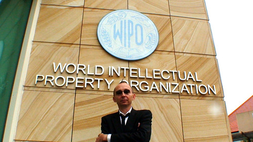 Konrad Becker, participant to the summit, in front of Wipo next to ASEF office in Singapore.