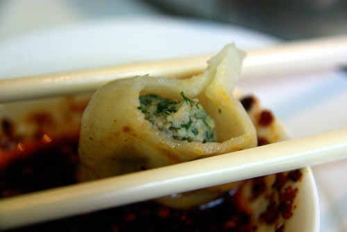 Pork and anise dumpling at Qing Hua Yuan 青花苑, Montreal