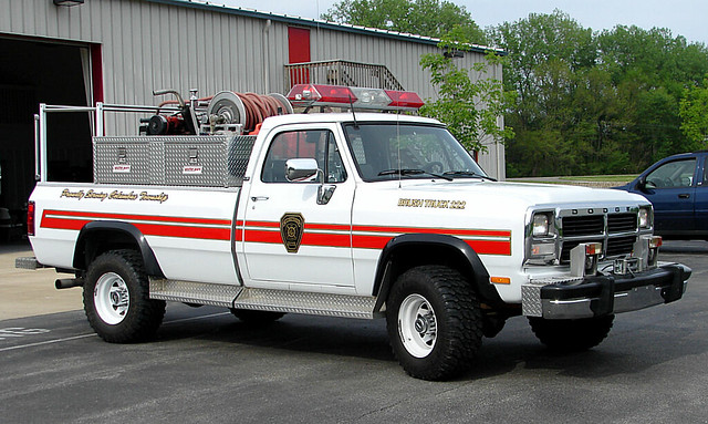 columbus truck fire diesel engine indiana brush dodge ram department cummins township rpi