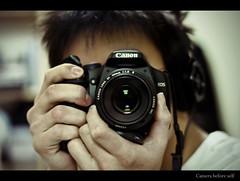Camera Before Self (edmundlwk) Tags: selfportrait 50mm xpro f18 canon450d edmundlim