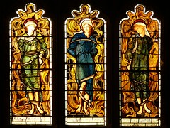 Three young men in the fiery furnace - Burne-Jones