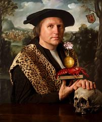 Self Portrait after Dirck Jacobsz - Pompeius Occo (kevsyd) Tags: skull manray dutchgoldenage kevinbest georghoefnagel dirkjacobsz pompeiusocco