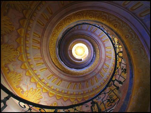 018-escalera de la abadia de Melk-Fotografía-Laura (& Garrett)