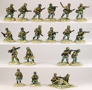 20mm  Warmodelling SS Infantry (NORMANDY)