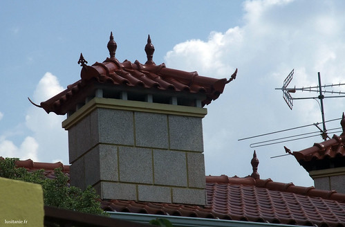 Richly decorated chimney